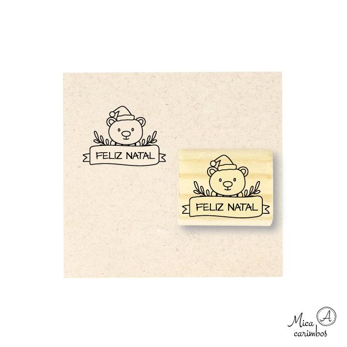 Carimbo Feliz Natal Urso