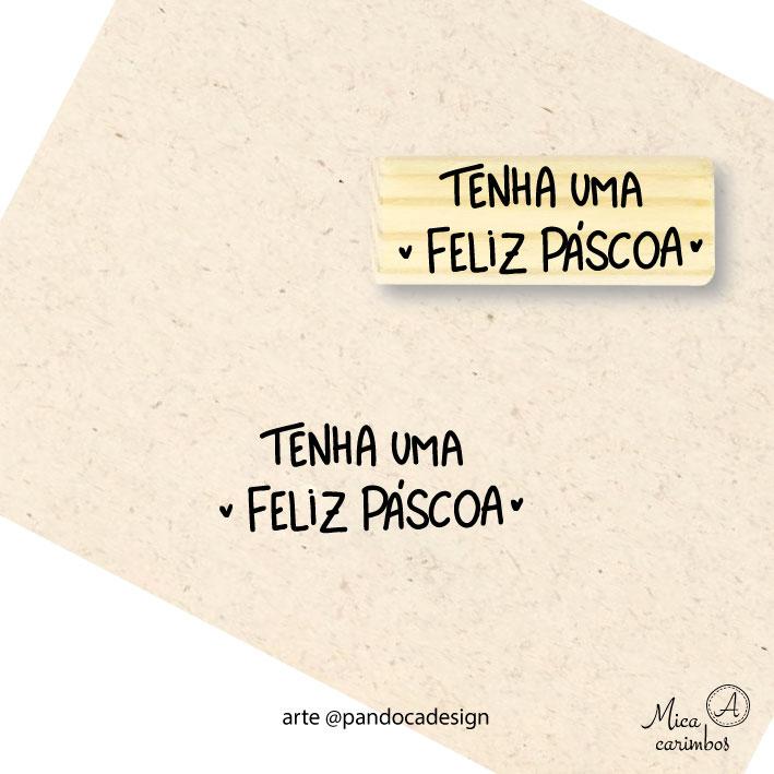 Carimbo Feliz Páscoa pq  - Pandoca