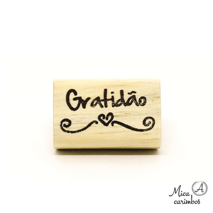 Carimbo Gratidão coração