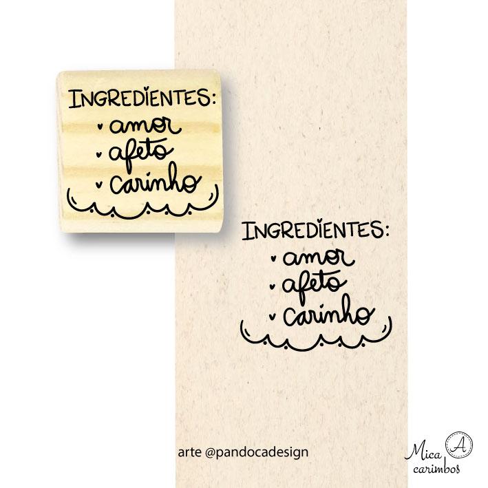 Carimbo Ingredientes - Pandoca