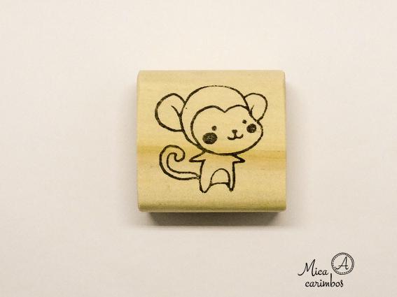 Carimbo Macaco b - Animais