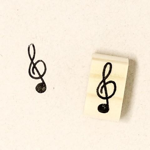 Carimbo Nota musical  Clave de Sol
