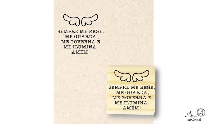 Carimbo Oração Santo Anjo