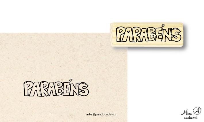 Carimbo Parabéns - Pandoca
