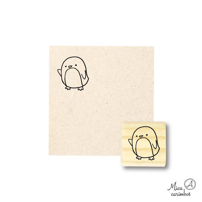 Carimbo Pinguim b - Animais
