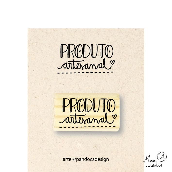 Carimbo Produto artesanal - Pandoca