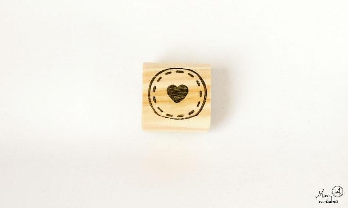 Carimbo Selo coração