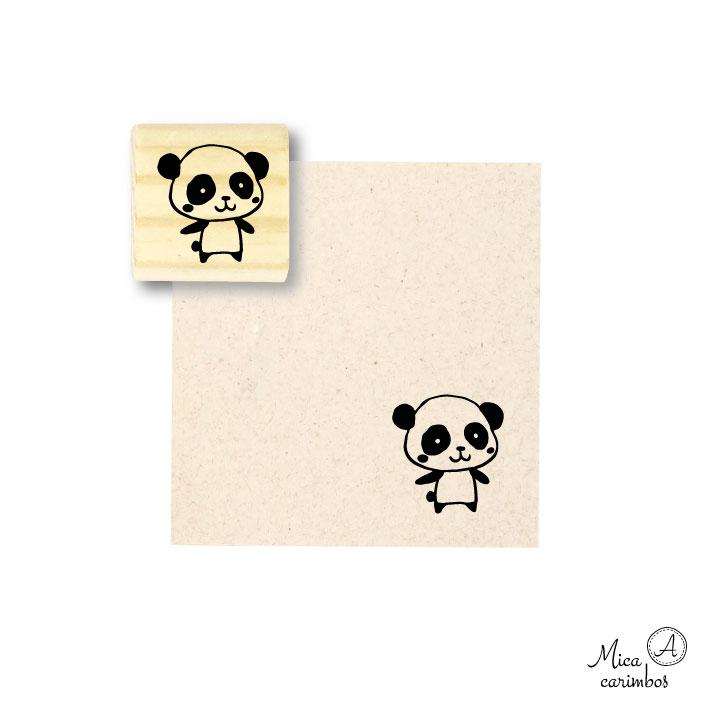 Carimbo Urso Panda b - Animais