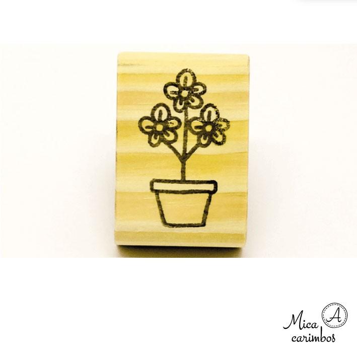 Carimbo Vaso de flor