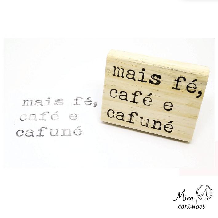 Mais fé, café e cafuné