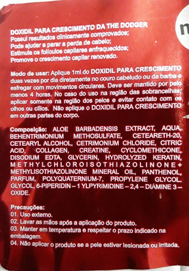 DOXIDIL PARA CRESCIMENTO 60ML THE DODGER