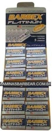 LÂMINAS DE BARBEAR BARBEX PLATINIUM ATACADO