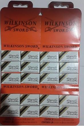 LÂMINAS DE BARBEAR WILKINSON - 100 CARTELAS -ATACADO
