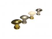 Puxador para Móveis Modelo 5474 - Branco Dourado Cromado Alumínio