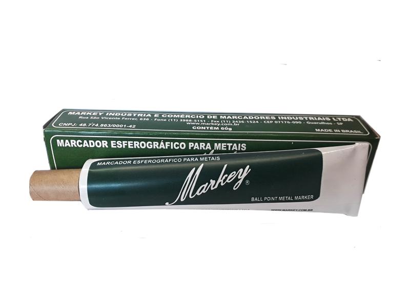 Marcador Esferográfico Amarelo Para Metais Markey  Ponta 2 mm