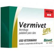 VERMIVET IVER 660 MG VERMÍFUGO PARA CÃES - 2 COMPRIMIDOS