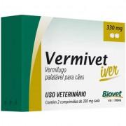 VERMIVET IVER 660 MG VERMÍFUGO PARA CÃES - 4 COMPRIMIDOS