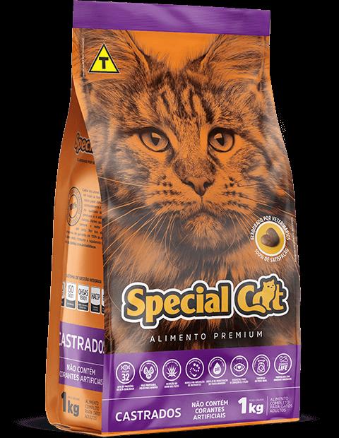 RAÇÃO SPECIAL CAT CASTRADO 10KG