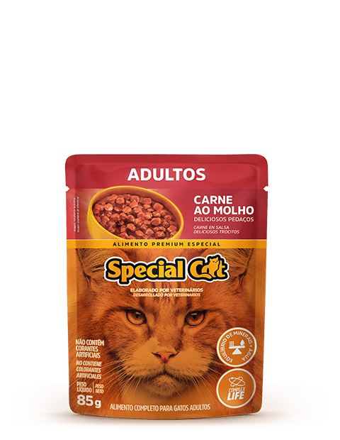SACHÊ SPECIAL CAT ADULTO CARNE 85G