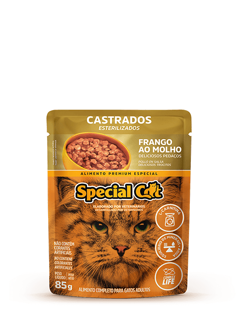 SACHÊ SPECIAL CAT CASTRADOS FRANGO 85G