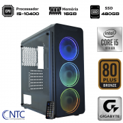Computador NTC Gamer - Intel Core i5 10400, 16GB, SSD 480GB, 500W, Gigabyte H410M, VULCANO II - 7161