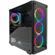 Gabinete Gamer Redragon Wheeljack, Mid Tower, RGB, com 4 Fans, Lateral e Frontal em Vidro - GC-606BK-RGB