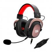 Headset Gamer Redragon Zeus, 7.1 Som Surround, Drivers 53mm, Preto/Vermelho - H510-1