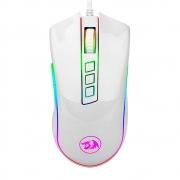 Mouse Gamer Redragon Cobra, 10000DPI, RGB, Branco - M711W