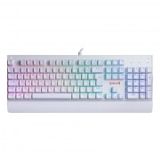 Teclado Mecânico Gamer Redragon Kala Branco RGB, Switch Brown, ABNT-2, K557W-RGB