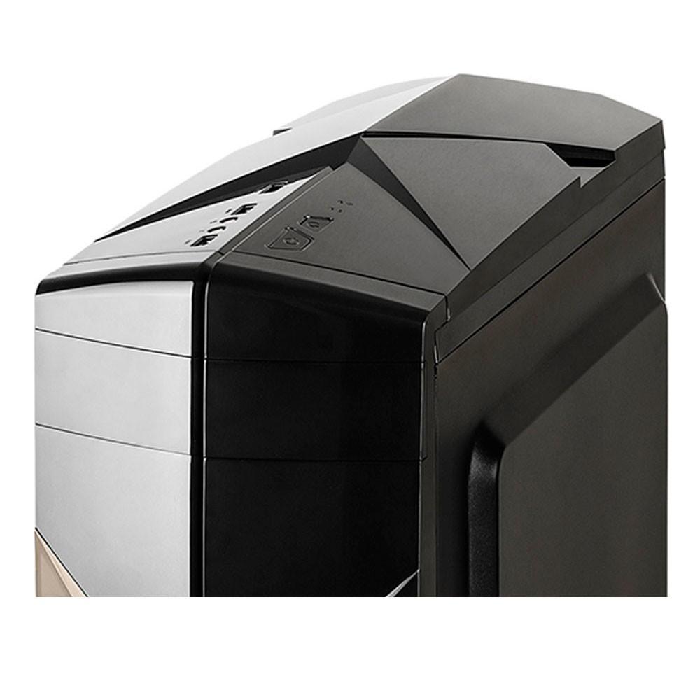 Gabinete Gamer C3Tech Preto 1Fan Led Vermelho Frontal USB3.0 Lat. Acrilica Sem fonte MT-G300BK