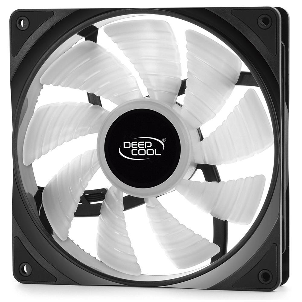 Kit com 2 Cooler FAN Deepcool RF 140 2 em 1, 140mm, RGB - DP-FRGB-RF140-2C