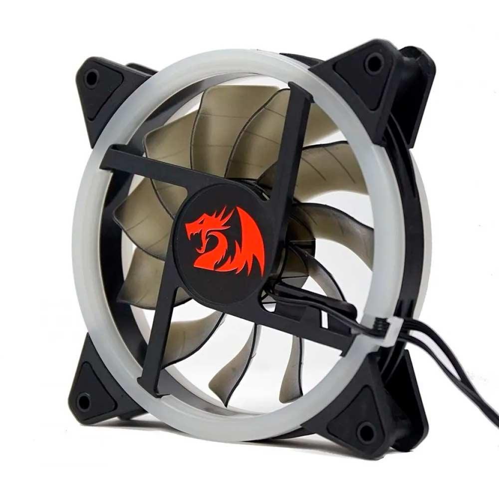 Kit Fan com 3 Unidades Redragon, RGB, 120mm, Com Controladora, GC-F011