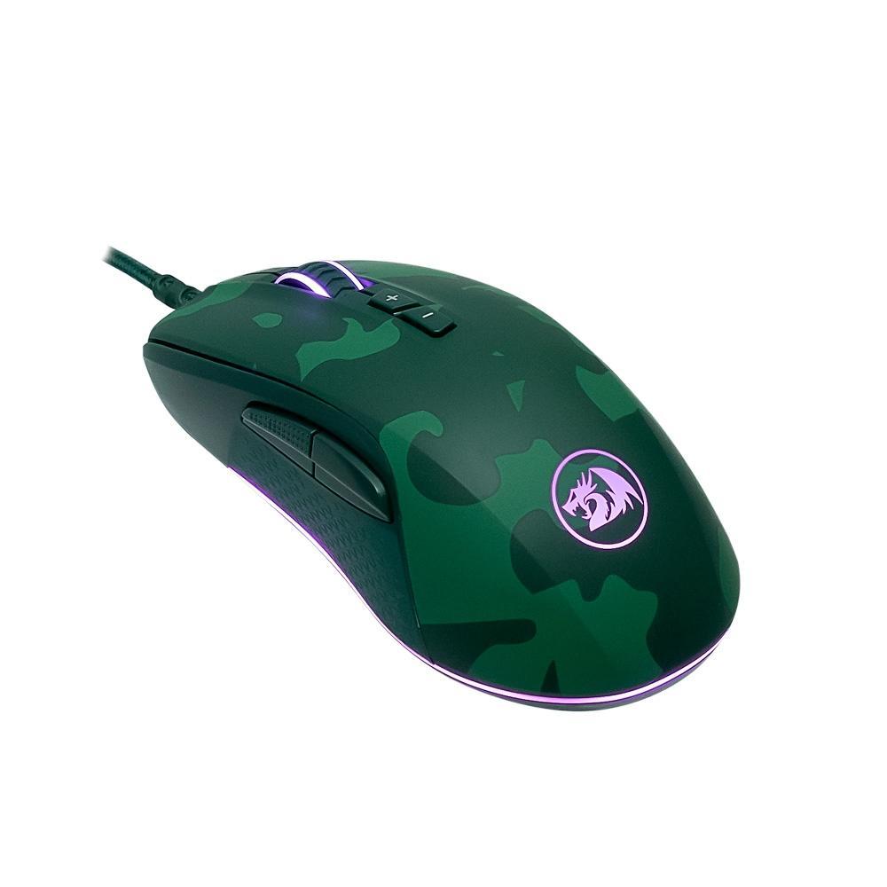 Kit Gamer Redragon -  Teclado Mecânico + Mouse Rainbow - Dark Green S108