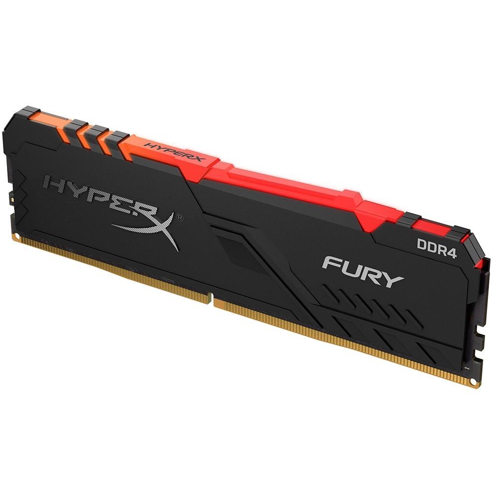 Memória HyperX Fury RGB, 8GB, 3200MHz, DDR4, CL16, Preto - HX432C16FB3A/8