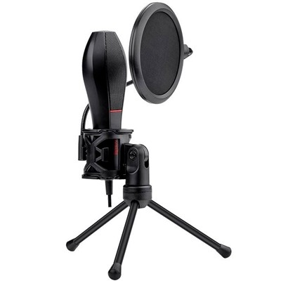 Microfone Gamer Redragon Quasar Streamer C/Tripé GM200-1