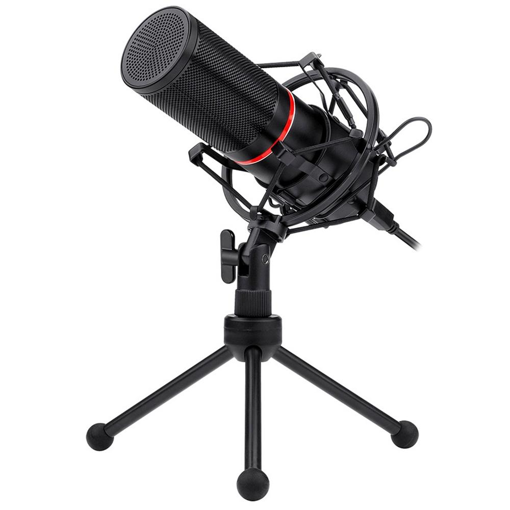 Microfone Gamer Redragon Streamer Blazar, LED, USB Plug and Play - GM300