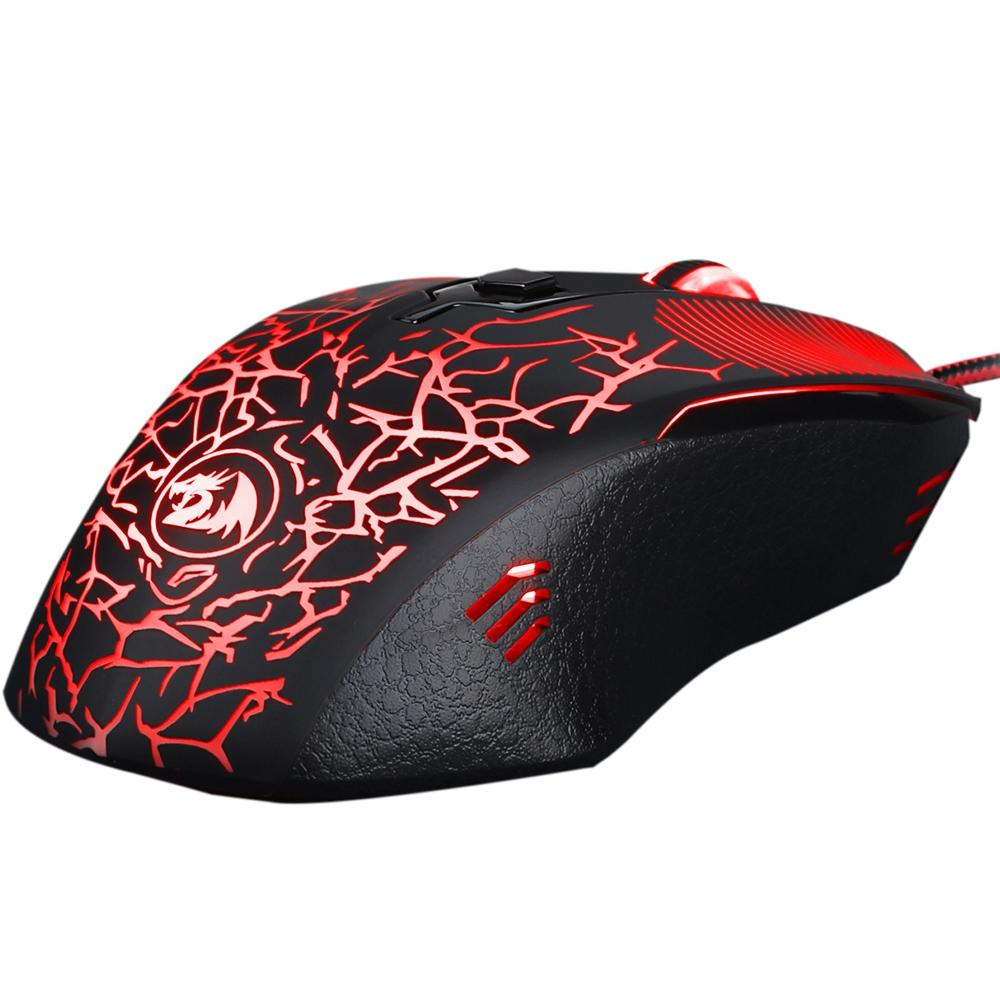 Mouse Gamer Redragon Inquisitor Basic, LED Backlight 4 Cores, 3200 DPI - M608