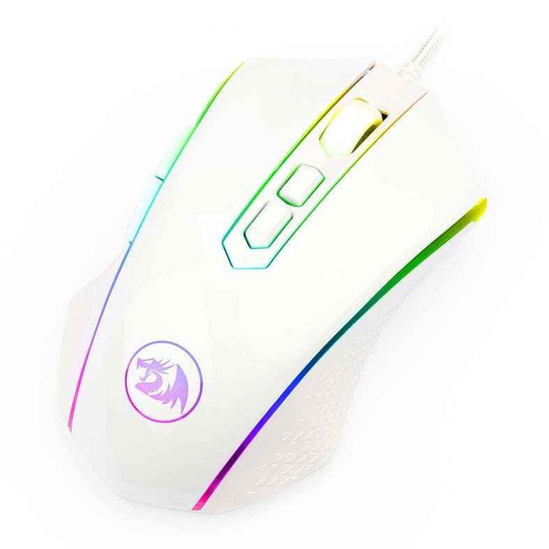 Mouse Gamer Redragon Memeanlion Chroma, RGB, 7 Botões, 10000DPI, Branco - M710W-RGB