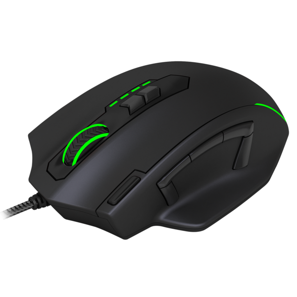 Mouse Gamer T-Dagger Major, RGB, 11 Botões, 8000DPI - T-TGM303