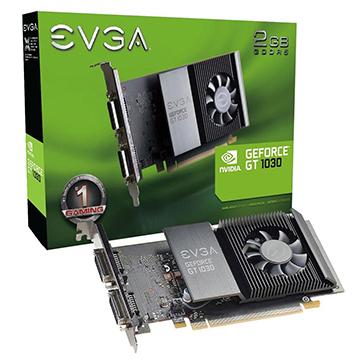 Placa de Vídeo Evga Geforce GT 1030 SC 2GB GDDR5 64Bits PCI-E 3.0+2DVI-D 02G-P4-6338-KR