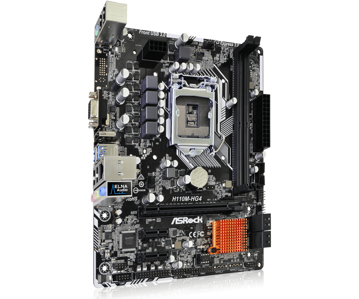 Placa Mãe AsRock H110-HG4 (1151/DDR4/HDMI/VGA/USB 3.0)