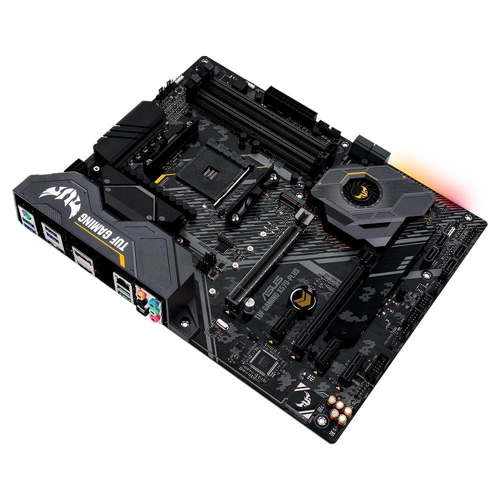 Placa Mãe Asus TUF GAMING X570-PLUS/BR DDR4 Socket AM4 Chipset AMD X570