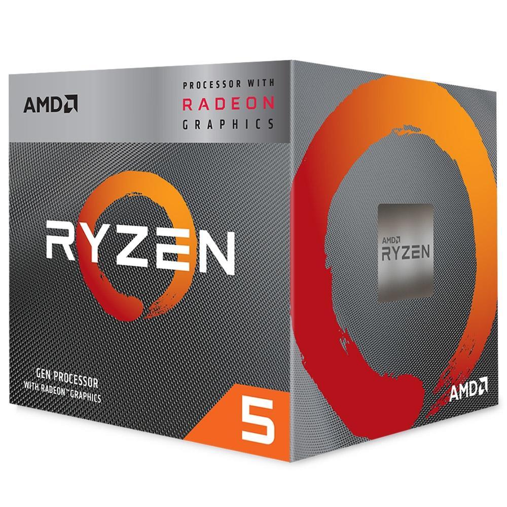 Processador AMD Ryzen 5 3400G, Cache 6MB, 3.7GHz (4.2GHz Max Turbo), AM4 - YD3400C5FHBOX