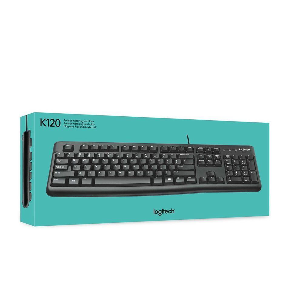 Teclado Logitech K120 USB Preto 920-004423