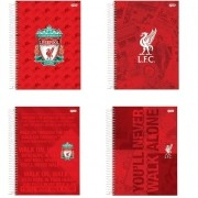 CADERNO UNIVERSITÁRIO CD JANDAIA 10X1 LIVERPOOL 66704