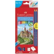Faber-Castell, Kit Lápis de Cor EcoLápis, 2 Lápis Max, 1 Apontador Simples e 1 Borracha, 12 Cores