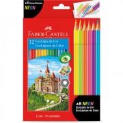 Faber-castell Lápis de Cor 12 Cores + 6 Neon