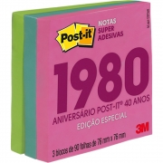 POST-IT 3M ANOS 80 3BL 76X76