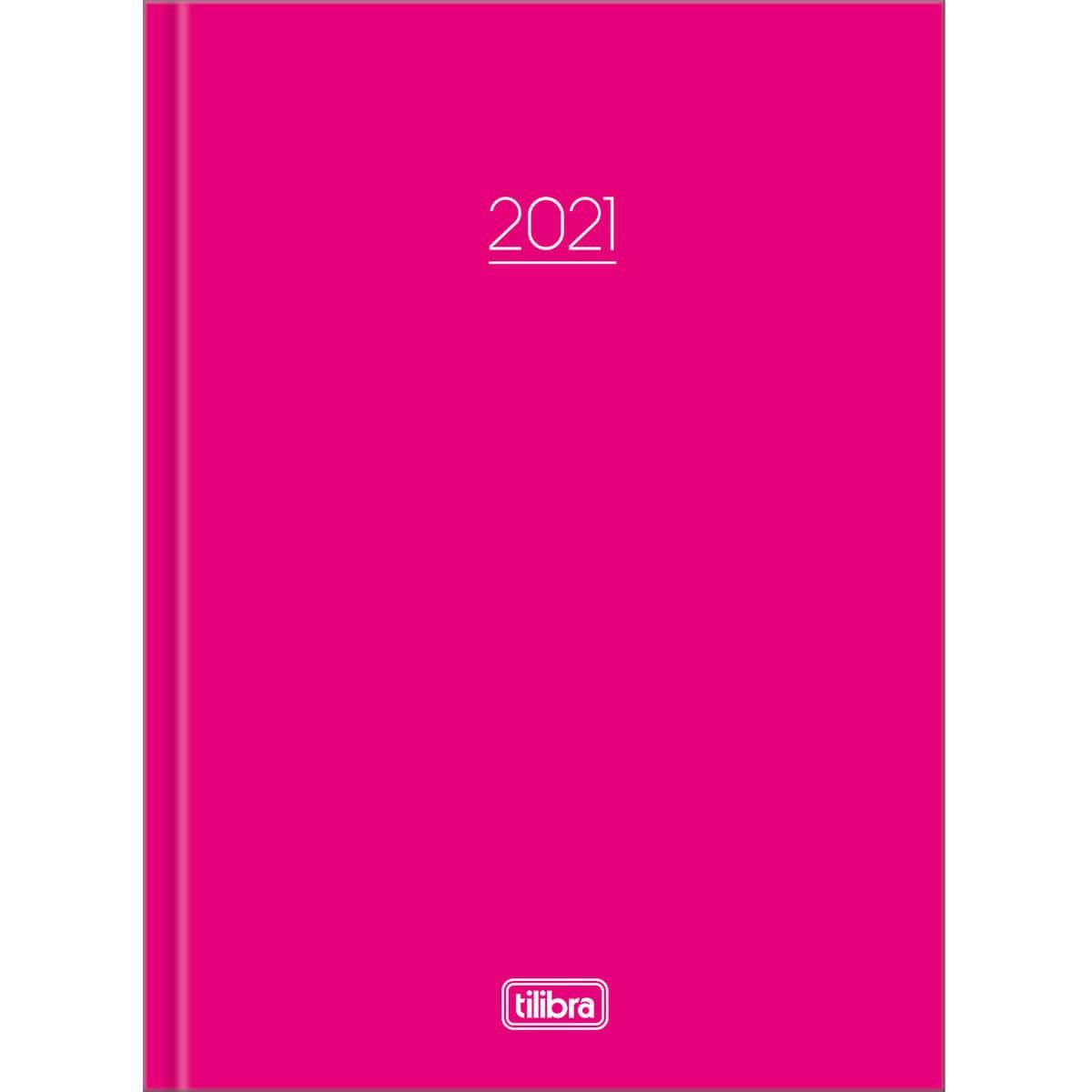 Agenda Costurada Diária Pepper Rosa 2021