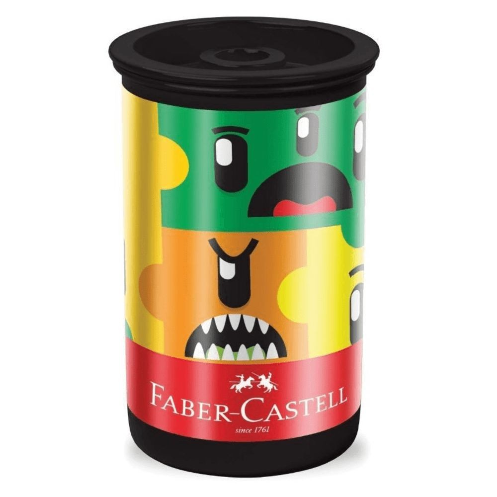 Apontador Faber Castell Monster Puzzle C/ Deposito 123mpzzf